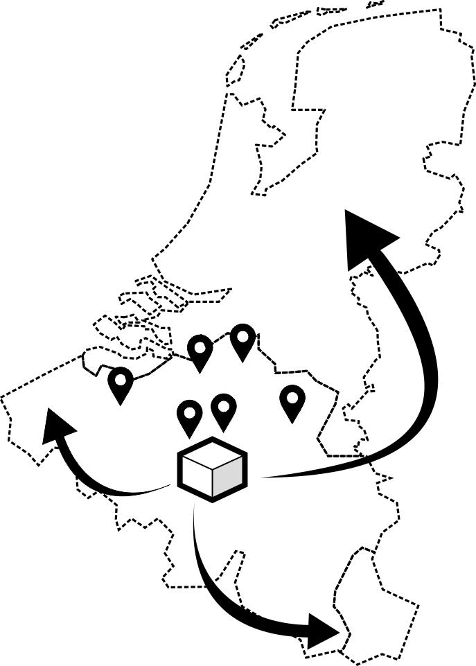 Levering in Belgie en Nederland