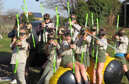 Archery tag met kinderen