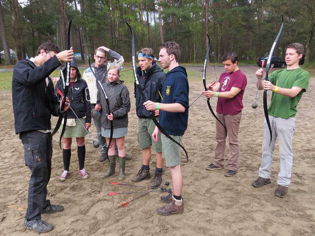 Archery tag teambuidling