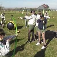 Archery tag activiteit in stoplight