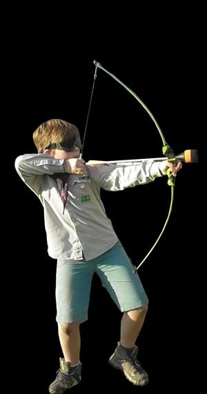 archery tag met kinderbogen