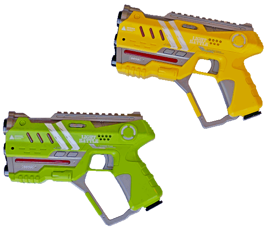 Lightbattle anti cheat laserguns groen en geel