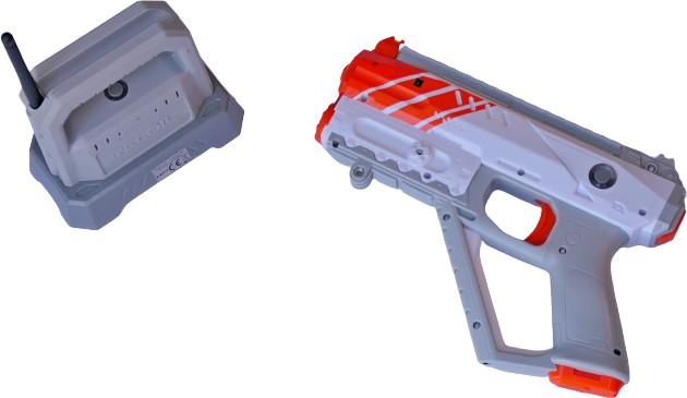 Recoil lasergun
